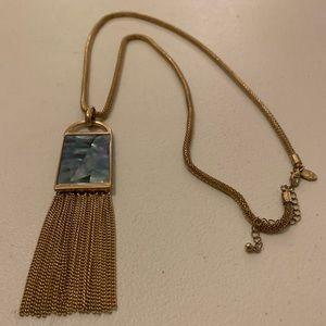 NWOT Abalone Shell Fringe Necklace